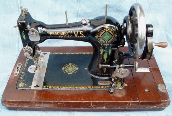 Jones Sewing Machine Badged Bradbury's Family Delectable Jones Sewing Machine